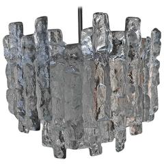 Beautiful Mid-Century Kalmar Ice Glass Chandelier