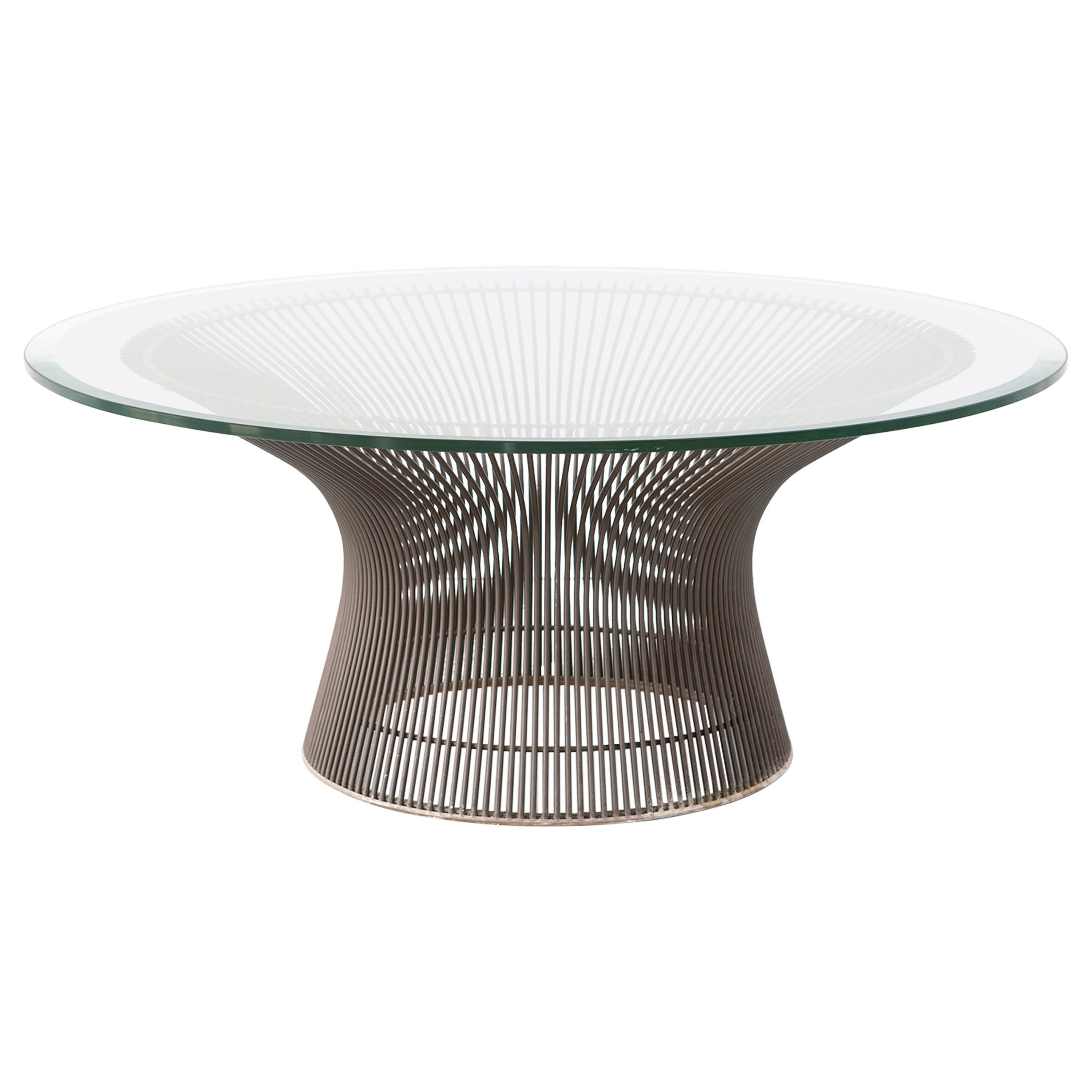 Mid Century Modern Bronze Knoll Coffee Table By Warren Platner At