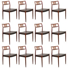 12 Rosewood Møller Dining Chairs