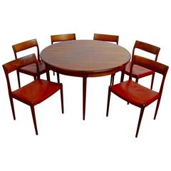 Jacaranda Dining Table with Six Chairs by Niels O. Møller