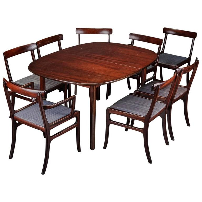 Ole Wanscher 'Rungstedlund' Dining Table and Eight Chairs