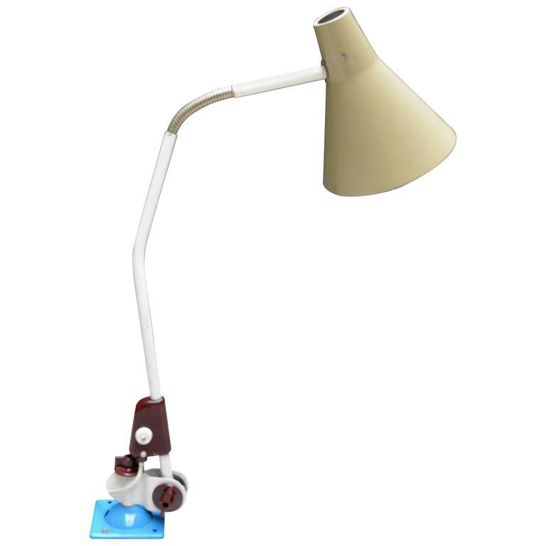 Wall Lamp For Desk : 1960s VEB Zweckleuchtenbau Dresden Desk or Wall Workshop Lamp on Screws For Sale at 1stdibs