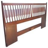 Mid-Century Modern King Bed and Headboard, Kipp Stewart, Drexel Declaration