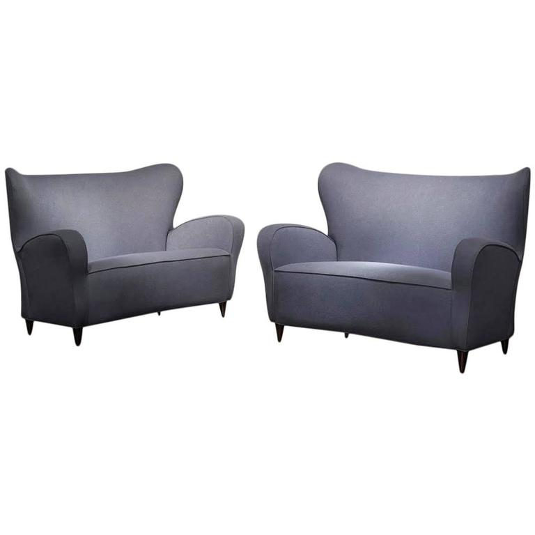 Pair of Two-Seat Sofas by Ico & Luisa Parisi For Sale