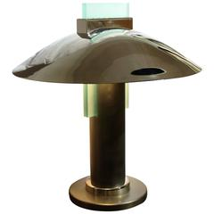 "20th Century ""Art Deco"" Style Stainless Steel Table Lamp"