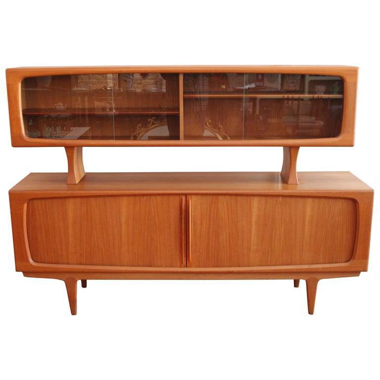 Delicieux Bernhard Pedersen U0026 Søn Teak Danish Modern Credenza Buffet With Hutch For  Sale