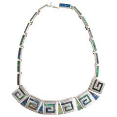 Mexican Sterling Silver Necklace by Los Castillo