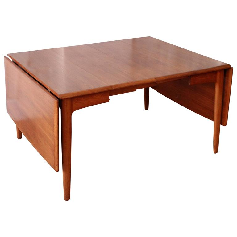 Svend Madsen Teak Drop-Leaf Dining Table