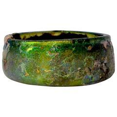Roman Iridescent Glass Bowl, 1st-3rd Century AD
