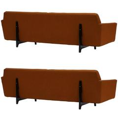 Pair of Bracket Back Sofas by Edward Wormley for Dunbar