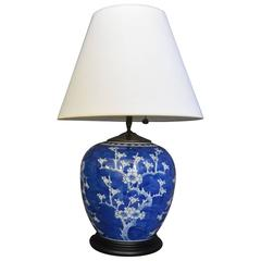 Blue and White Cherry Blossom Lamp