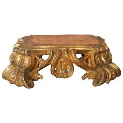 Italian Baroque Gilt Carved Stand