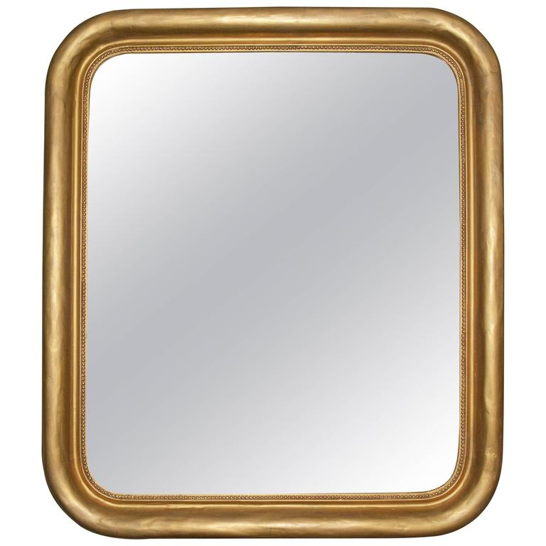 Louis Philippe Mirror With Rounded Corners For