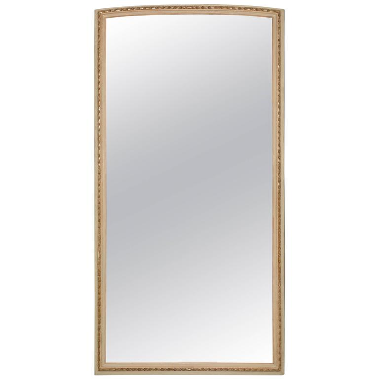 Neoclassical Style Painted Full-Length Dressing Mirror For Sale