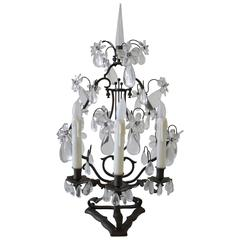 19th Century Bronze and Crystal Candelabra