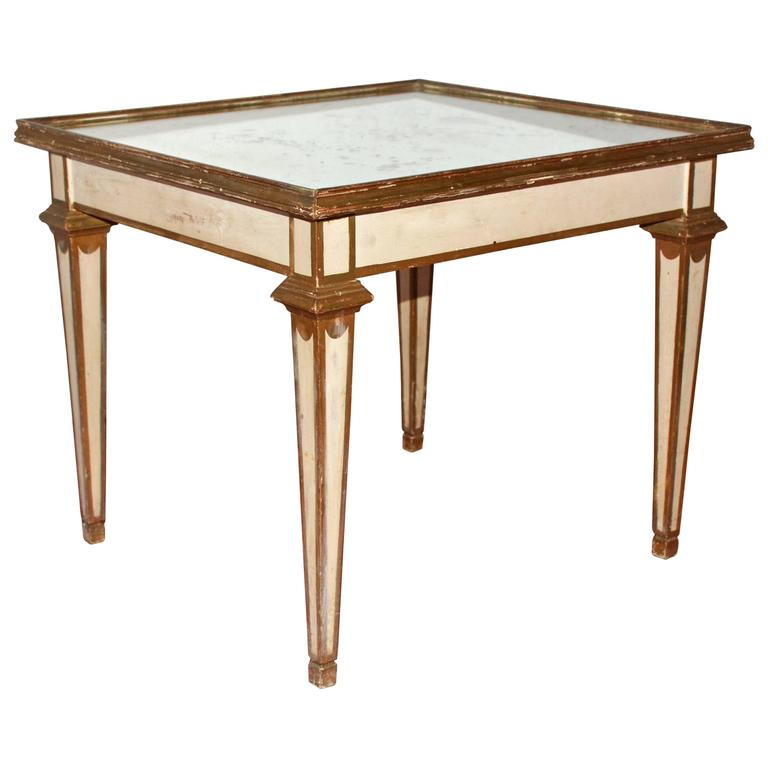 Mirrored Coffee Table And End Tables Classical Moderne Mirrored Coffee Or Side Table For Sale