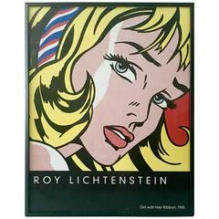 Roy Lichtenstein Girl with Hair Ribbon 2003-Framed Lithograph Poster
