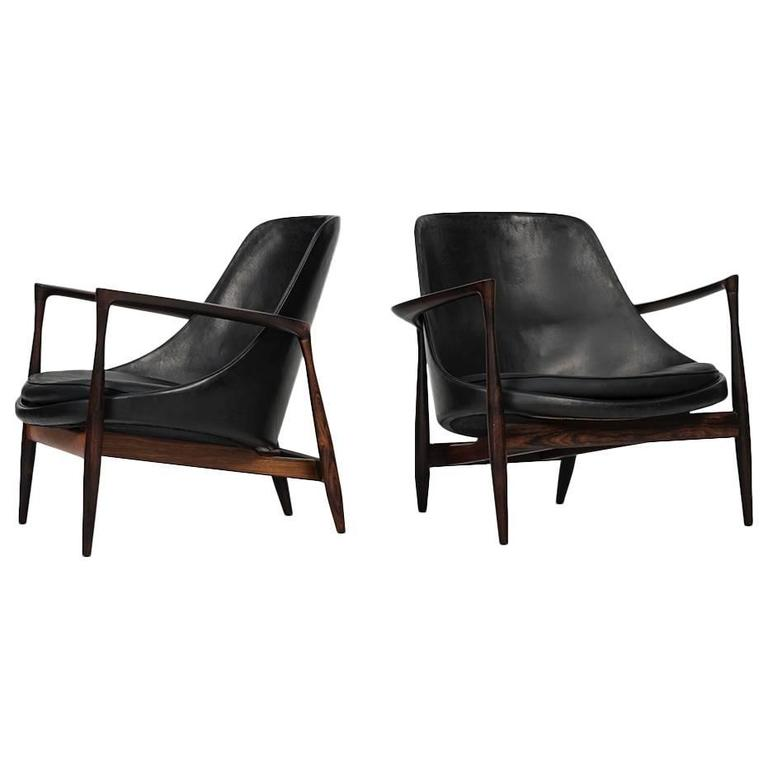 Ib Kofod-Larsen Easy Chairs Model Elizabeth by Christensen & Larsen in Denmark