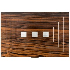 Hans Hansen Rosewood Box with Sterling Silver Produced in Denmark
