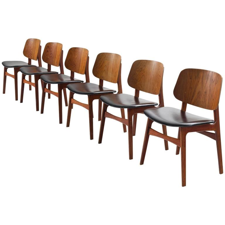 b rge mogensen set of six teak dining room chairs at 1stdibs