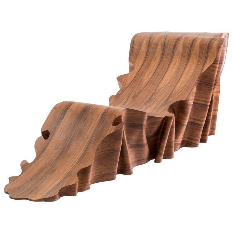 Una 'Articolo Indeterminativo' Wood Chaise Longue For Sale
