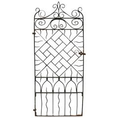 Tall Antique Wrought Iron Pedestrian Gate