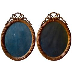 Pair of Oval French Mirrors