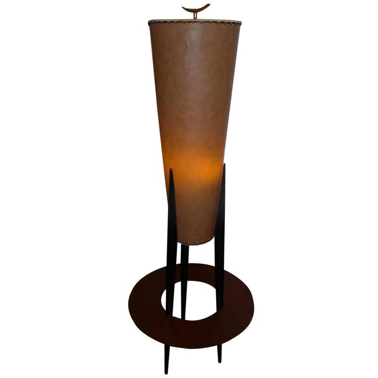 three legged floor lamp by jean rispal france 1950s for sale at. Black Bedroom Furniture Sets. Home Design Ideas