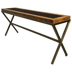 1970s X-Base Console Table