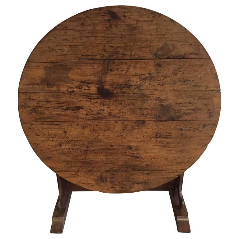 19th Century Pine Wine Table, French