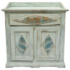 19th Century Swedish Gustavian Country Buffet in Blue and Grey Paint