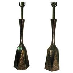 Pair of Mid-Century Modern Brutalist Table Lamps by Laurel