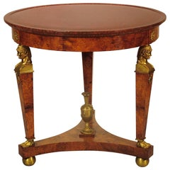 French Gilt and Marble Occasional Table in the Empire Style