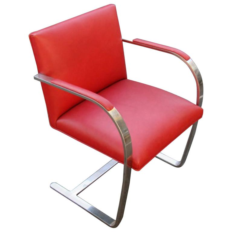Knoll Brno Chair Red Leather