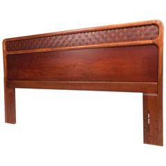 Mid-Century Modern Queen Bed Headboard in the Style of Warren Church