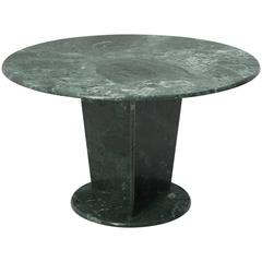 Round Green Marble Center Table