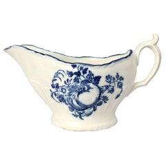 Antique 18th Century Caughley Soft Paste Porcelain Fruit Pattern Sauce Boat