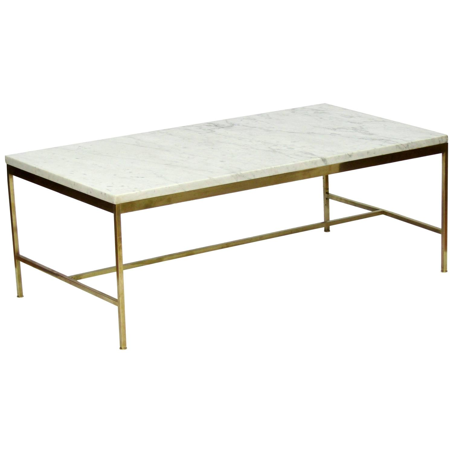 1950s Marble and Brass Coffee Table by Paul McCobb at 1stdibs