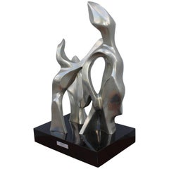 Seymour Meyer Modernist Abstract Bronze Sculpture