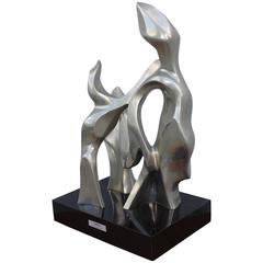 Seymour Meyer Modernist Abstract Bronze Sculpture