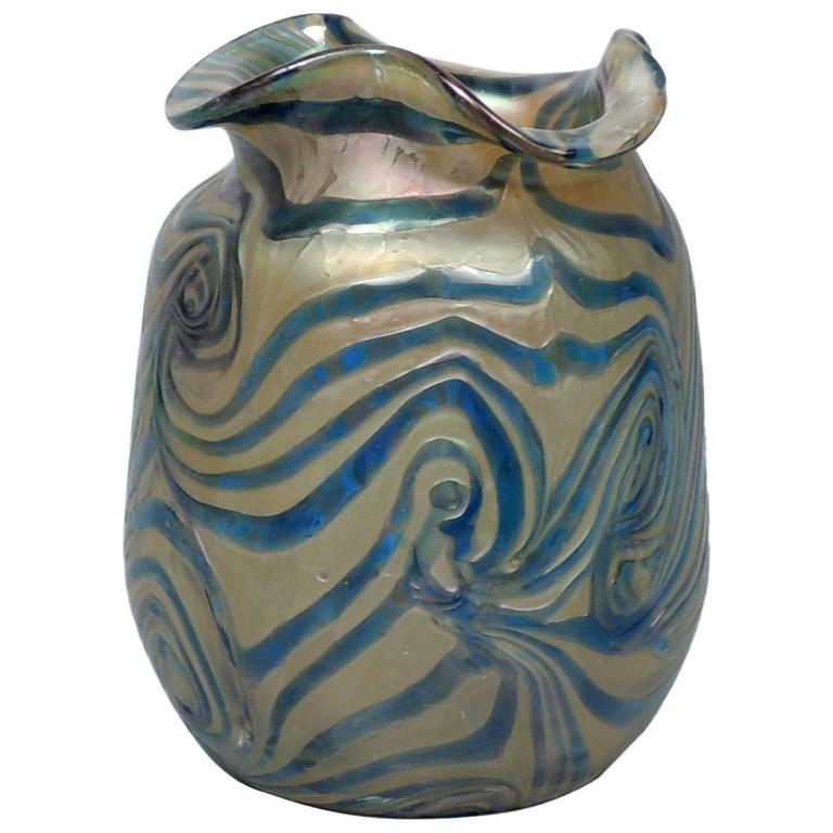 Art Nouveau Kralik Vase With Owl Frame For Sale At 1stdibs