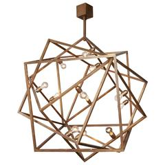 "Amazing ""Cube"" Chandelier, Unique Piece"