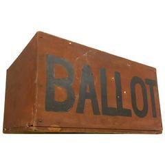 19th Century Slide Top Ballot Box