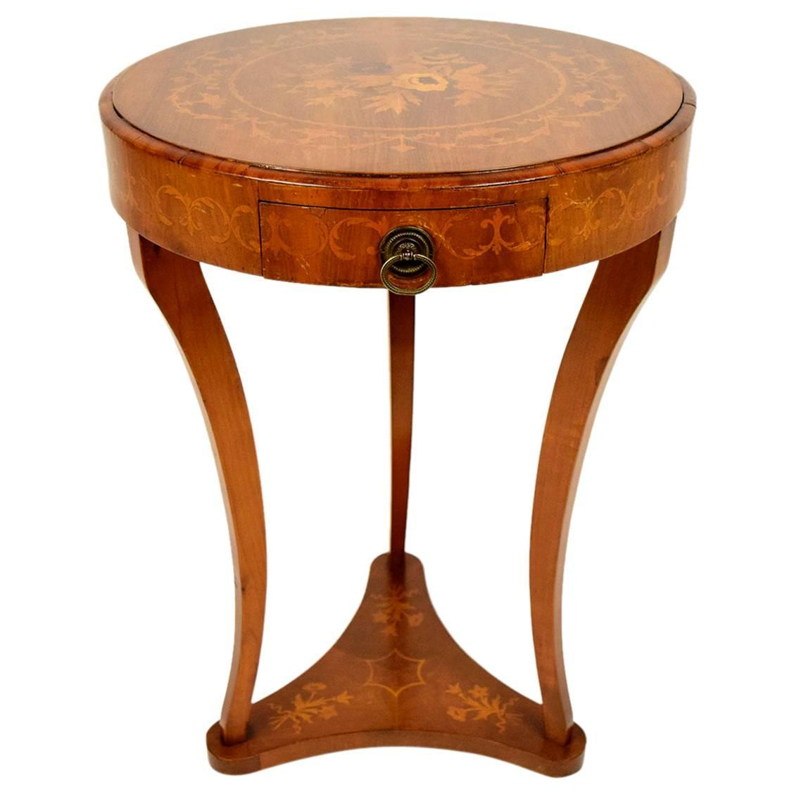 French marquetry side table for sale at stdibs