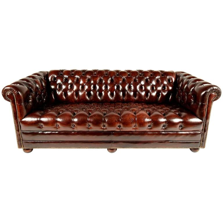 Chesterfield Tufted Leather Sofa At 1stdibs
