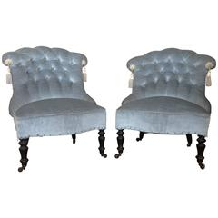 French Pair of Napoleon III Armchairs