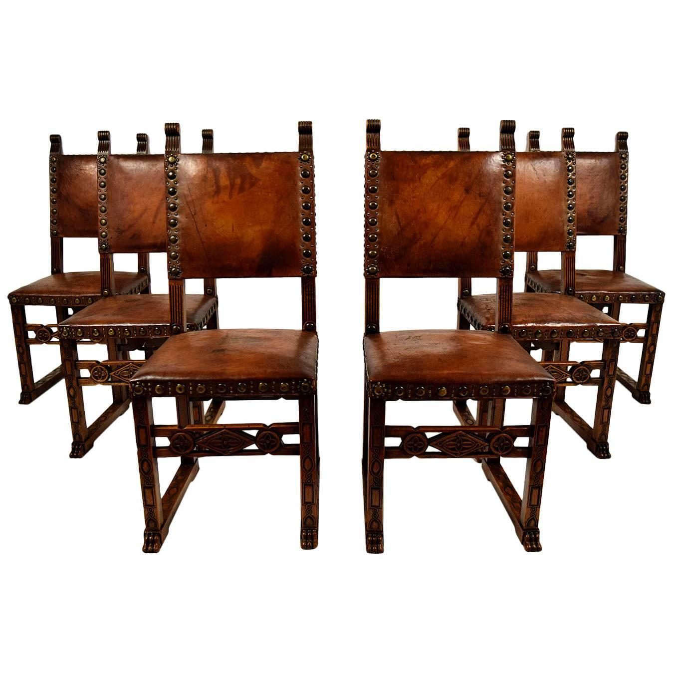 set of 6 spanish revival dining chairs at 1stdibs