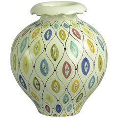 Multicolored Faience Vase by Stig Lindberg for Gustavsberg