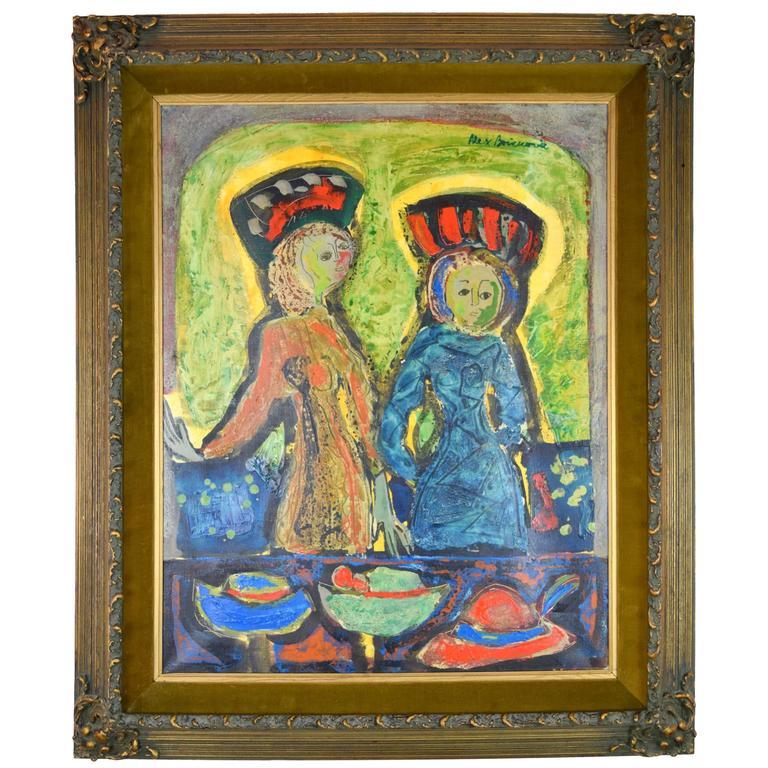 Aleksander Bozickovic, BOZ Abstract Figurative Oil Composition For Sale