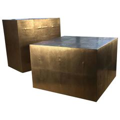Contemporary Bronze Shagreen Coffee Tables